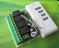 ¡ NUEVO! envío Gratis 12 UNIDS 315 MHz 433 MHz DC 12 V 10A 4CH RF Sistema de Interruptor de Control Remoto Inalámbrico de pared interruptor de la luz