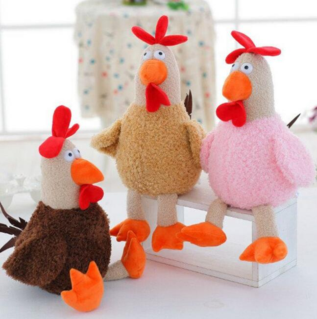 Promotions 25cm 2017 New Cock Plush Toys Stuffed Animals Cock Dolls Kids Toys Children Birthday