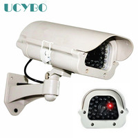 Fake Dummy Camera Cctv Surveillance Outdoor Indoor Waterproof Flashing Red LED Fake Camera For Security