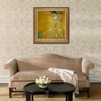 YongHe Home Decorative Oil Painting Vienna Secession Gustav Klimt Mrs Barr Customizable Spray Painting Frameless ink Poster