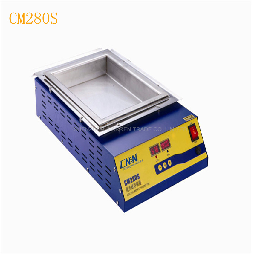 1pc CM- 280S Lead-free Double digital Solder Pot Soldering Soldering Desoldering Bath 280*200*45mm 21.2KG 2000W ms 80 lead free digital soldering pot environment friendly solder pot