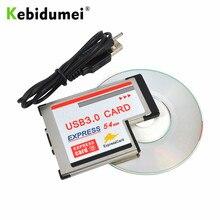 Kebidumei – adaptateur de carte PCI Express USB 3.0, 5Gbps, double 3 Ports, fente de 54mm, HUB USB, convertisseur interne pour ordinateur portable
