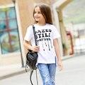 Девочек-подростков одежда Футболки для девочек 5 6 7 8 9 10 11 12 13 14 Т Лет Дети Одежда Для Девочек Топ Рубашки 2016 летом