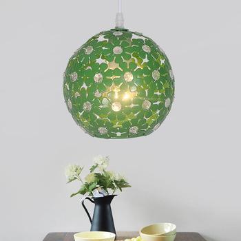Lustres E Pendentes suspension lumière moderne diamètre 18 cm E27 110 v-220 v pour décor luminaires Loft Style lampe en aluminium
