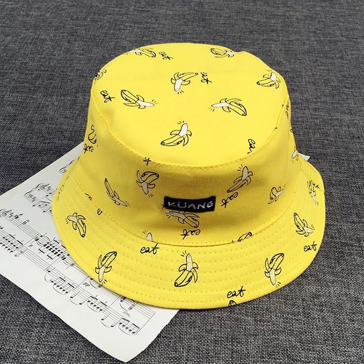 93cfbec1245 Detail Feedback Questions about VORON Bucket cap Man Women Unisex cotton  Banana Hat Bob Caps Hip Hop outdoor sports Summer ladies Beach Sun Fishing  Bucket ...