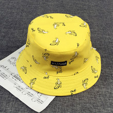 VORON Bucket cap Man Women Unisex cotton Banana Hat Bob Caps Hip Hop outdoor sports Summer ladies Beach Sun Fishing Bucket Hats(China)