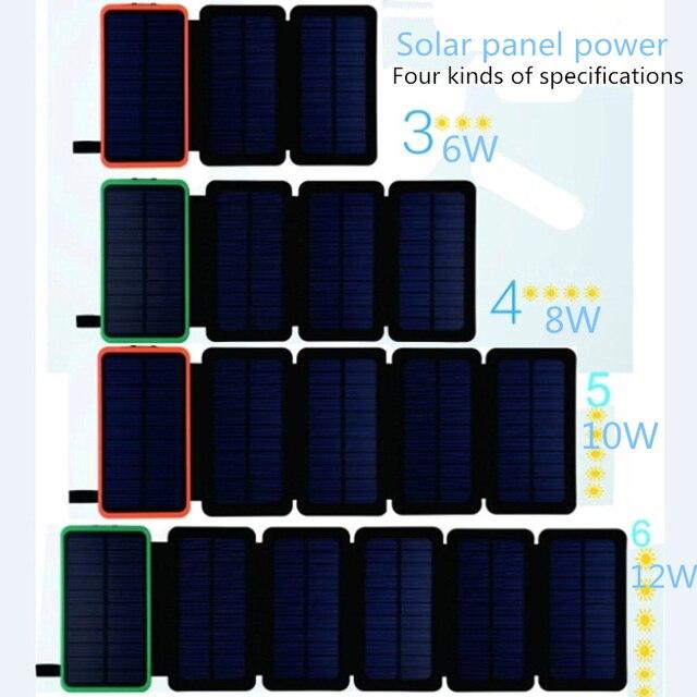 KERNUAP Folding Solar Panel 12W 10W 3
