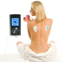 2 Channels TENS/EMS Machine Digital Massager Electrode Stimulator Acupuncture For Physical Therapy 6Mode For Health Care