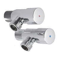 A Of Pair 1 2 Male X 1 2 Polished Chrome Brass Bathroom Angle Stop Valve