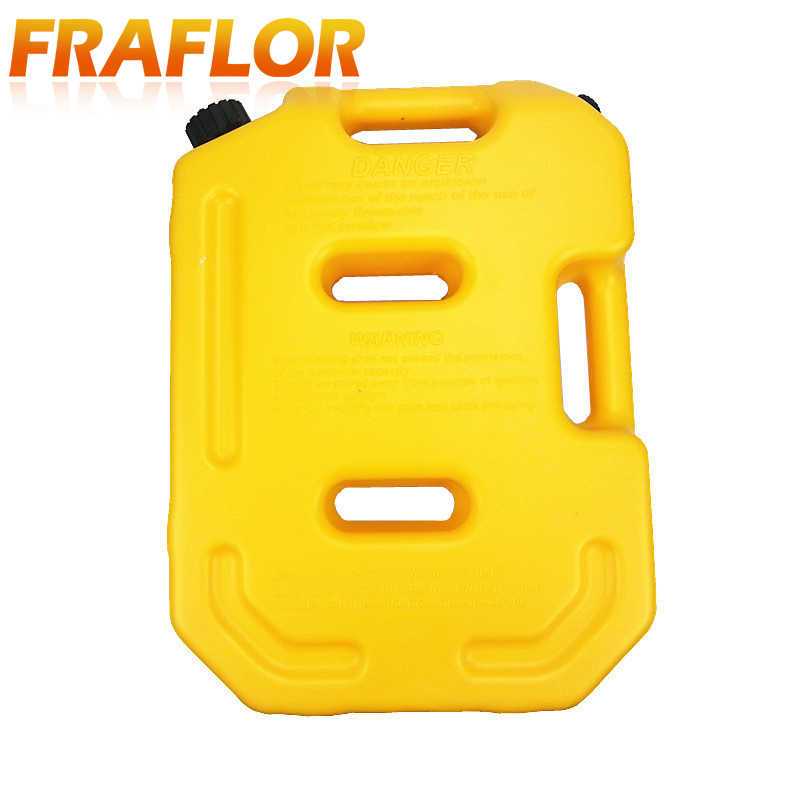 Jaune 10L réservoir de carburant boîtes de rechange en plastique réservoirs d'essence monter moto voiture Jerrycan gaz bidon essence huile conteneur carburant-cruches