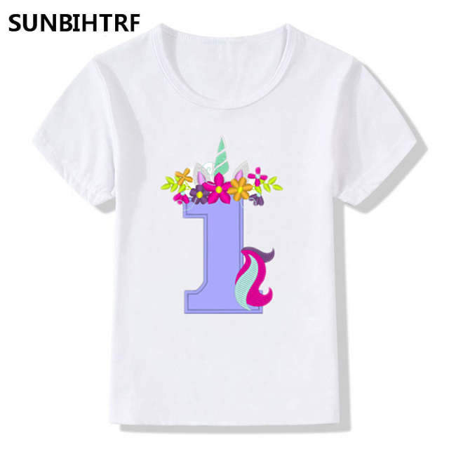 08940894ee Online Shop New Summer Tops Children T-Shirts Fashion Funny Unicorn Happy  Birthday Number Print Big Girls/Boys T Shirt Baby Casual Clothes |  Aliexpress ...