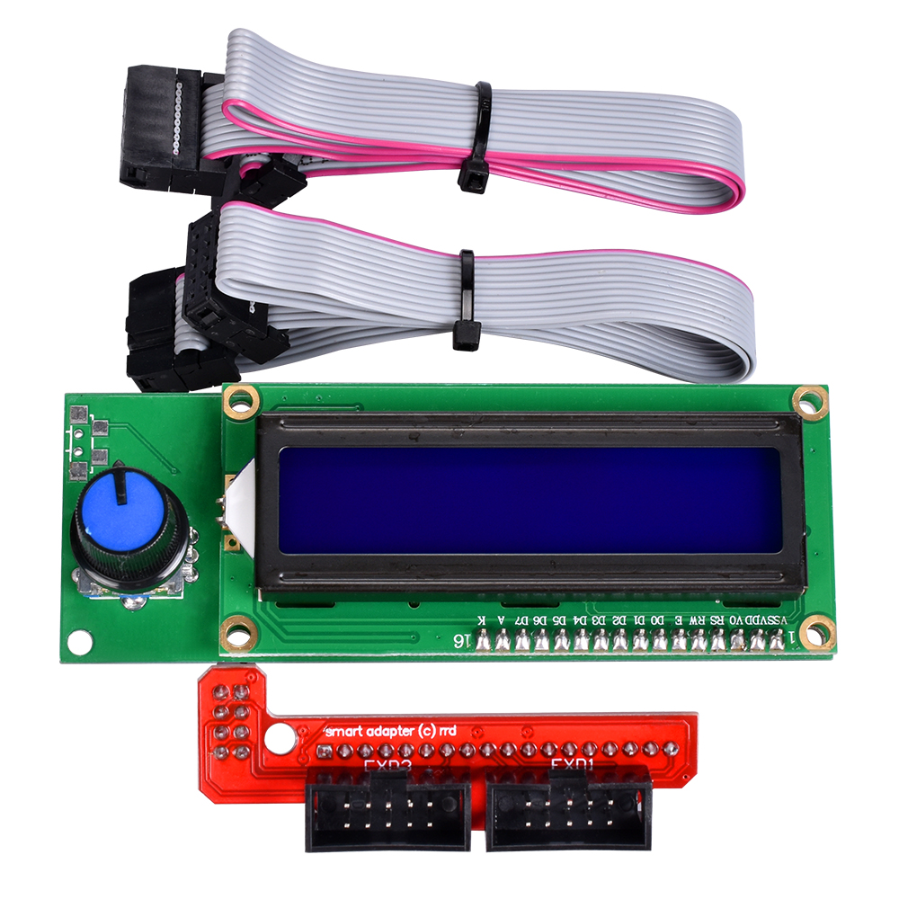 1PC 1602 LCD Display 3D Printer Interface Module Peprap Smart Controller Screen Ramps 1.4 2004 LCD Control Display Module
