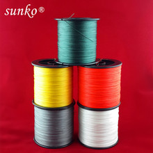 Enough 1000M SUNKO Brand Super Strong Japanese Multifilament PE Material Braided Fishing Line 8 10 16 22 30 40 50 60 70 80LB