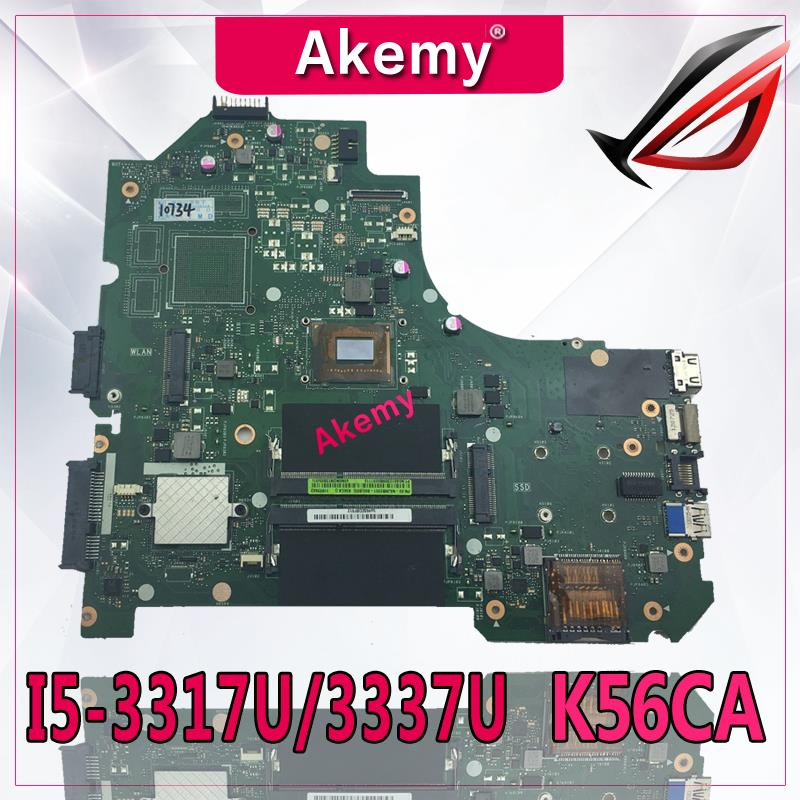 Akemy K56CA Laptop motherboard for ASUS K56CA K56CM K56CB K56C K56 S550CA Test original motherboard I5-3317U/3337UAkemy K56CA Laptop motherboard for ASUS K56CA K56CM K56CB K56C K56 S550CA Test original motherboard I5-3317U/3337U