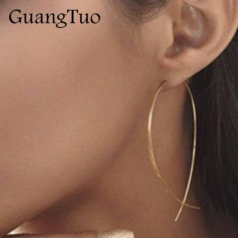 New Fashion Fish Shaped Earring Simplicity Copper Wire Geometric Handmade Stud Earring For Women Brincos De Gota Feminino