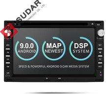 Isudar Универасльная штатная Автомагнитола 2 Din с 7 Дюймовым Экраном на android 9 для автомабилей VW/Volkswagen/GOLF/POLO/Passat/TRANSPORTER Wifi Радио RAM 2G