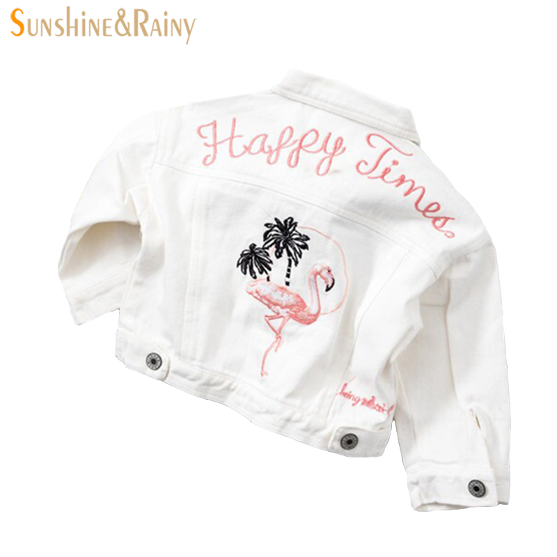 Baby Girls Denim Jacket Jeans Jackets for Boys Autumn Children Jackets Cartoon Embroidery Jacket Outerwear Girl Clothing
