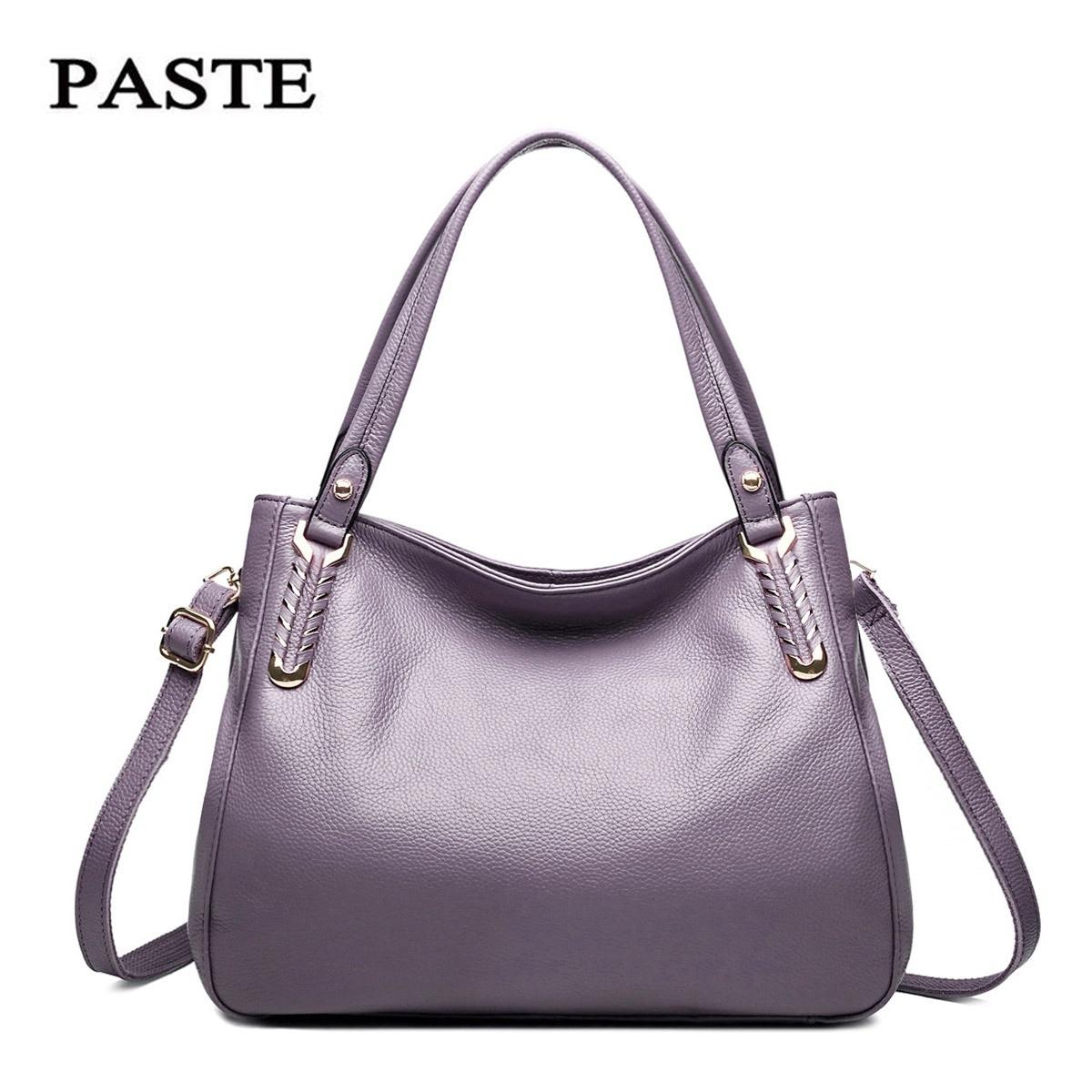 Simple Brand Designer Style Women Leather Handbag Genuine Leather Bag Classical Hobos Shoulder Bag Hand Bags Sac A Main Borse