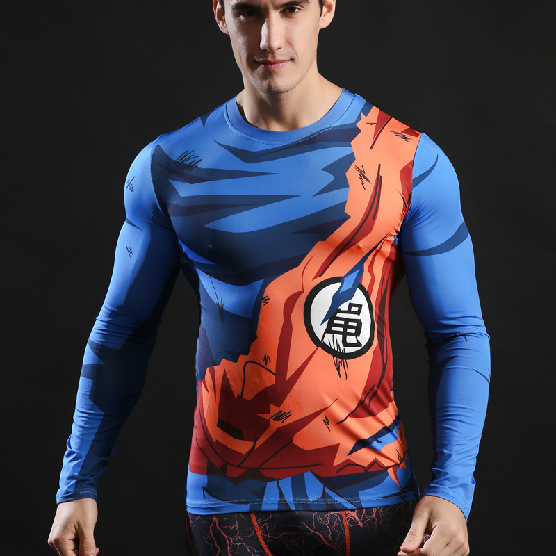 Quick Dry Fit Men Running T Shirt Long Sleeve Fitness Basketball Tops Exercise Training Sports Shirt Gym Compression Tight Tees