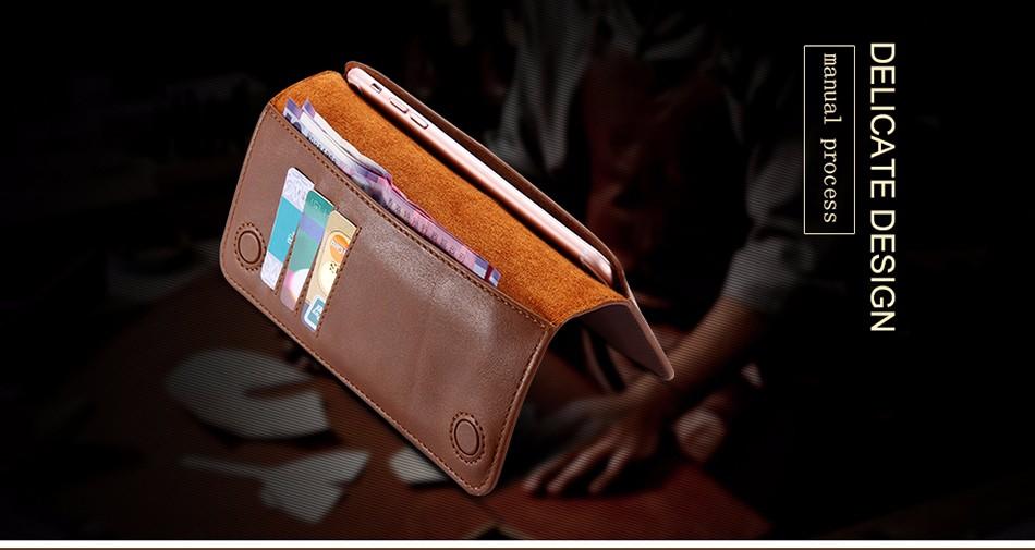 Floveme luksusowe retro skórzany portfel torby phone case do samsung s7 s6 s5 dla iphone 7 6 6 s plus se 5S 5 miękka pokrywa torebka marki 4