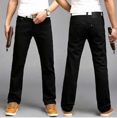 a1d16a7344a4b Mens Jeans Boot Cut Leg Slightly Flared Slim Fit Famous Brand Blue Black Male  jeans Designer Classic Denim Jeans-in Jeans from Men s Clothing on …