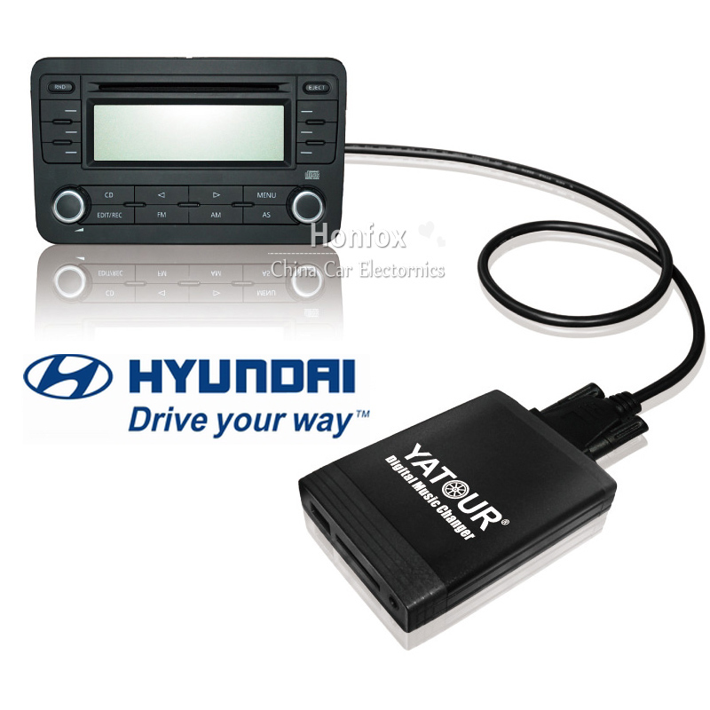 Yatour Digital music changer for Hyundai Sonata Tucson SantaFe Accent MAXIMA /kia optima 8 pin MP3 USB SD AUX bt adapter car usb sd aux adapter digital music changer mp3 converter for skoda octavia 2007 2011 fits select oem radios