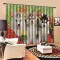 Затемняющие занавески с рисунком собаки  занавески для гостиной  современные спальни для детей  кухни  3D цифровая печать  JUN3