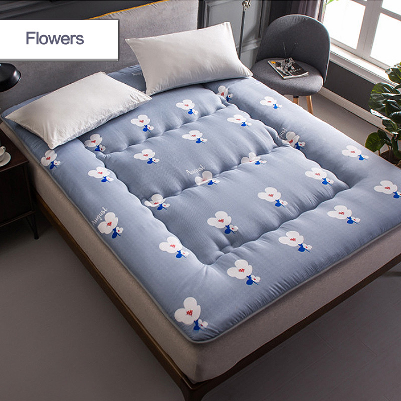 0 9x2m printed foldable thick single bed mattress student dormitory tatami yoga bed couch massage spring mattress topper pad mat in Mattresses from Furniture
