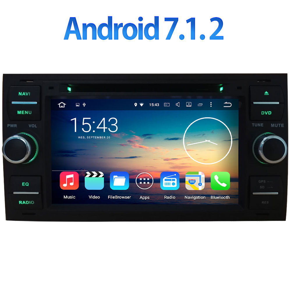 4G WIFI GPS Navi 2GB RAM Android 7 1 2 Quad Core Car DVD DAB DVR