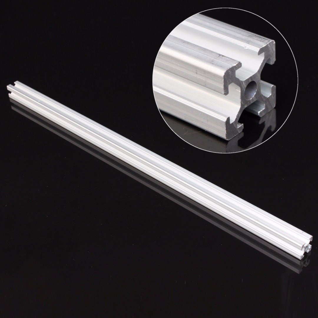 1pc 2020 Silver T-Slot Industrial Aluminum Profiles Extrusion Frame 500mm Length For 3D Printer CNC  Plasma Lasers Mayitr 1 piece light grey aluminum extrusion profiles heatsink wall mounted distribution case 24x80x90mm