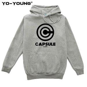 Image 4 - Yo Young Women Hoodies Sweatshirts Anime Dragon Balls Unisex Casual Capsule Corporation Print Streetwear Fleece Inside Quality