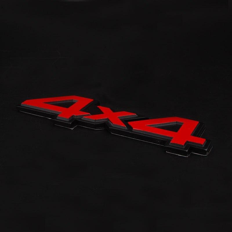 1 pcs En Métal D'alliage En Aluminium 4x4 4x4 Autocollant Badge Sticker emblème De Voiture autocollant Pour Jeep Cherokee wrangler compass patriot SUV Ford