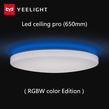 Xiaomi Yeelight Led plafond Pro 650mm RGB 50W travail à mi maison app et google maison et pour amazon Echo pour xiaomi kits de maison intelligente