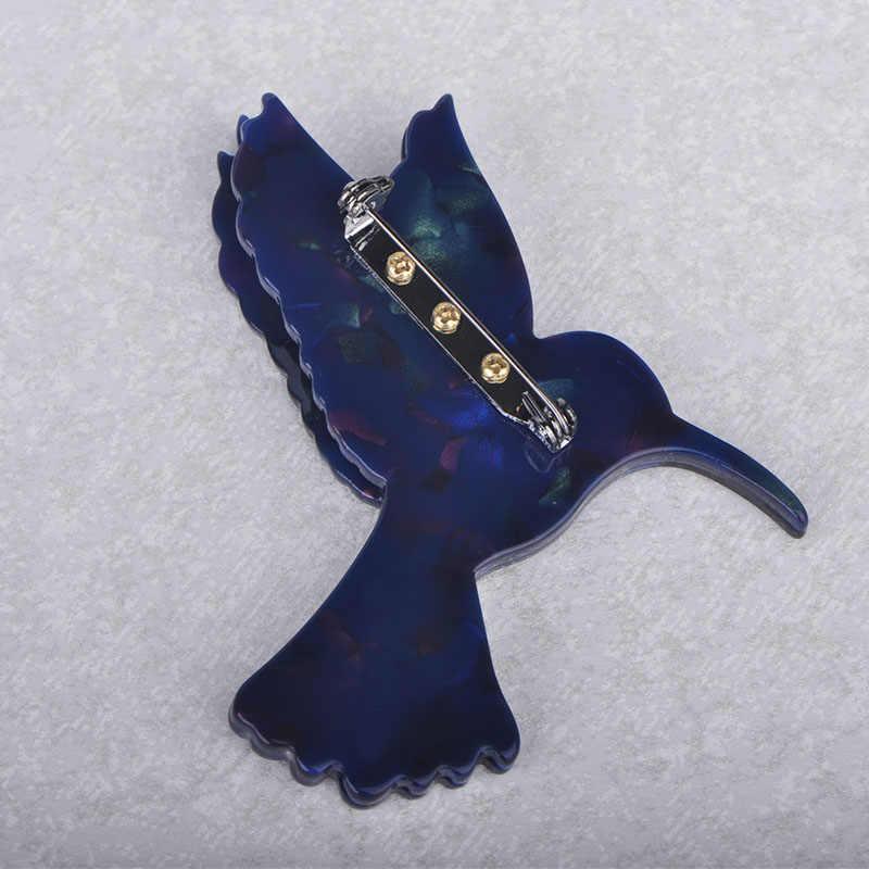 Blucome di Modo Blu Aquila Rondine Spille a Forma di Struttura Naturale Acrilico Spille Dei Monili per Le Ragazze Le Donne Cappello Sciarpa Cappotto Accessori