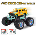 Novo Carro RC 4CH 4WD Rock Crawler 4x4 Musical Piscando Condução 360 Graus de Rotação do carro Modelo de Carro Bigfoot Carro Truque Com O Controlador!!