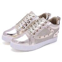 Fashion Casual Delle Donne Wedge Sneakers Donna Scarpe Altezza Crescente donne scarpe casuali delle Donne Zapatos Mujer shippin libero