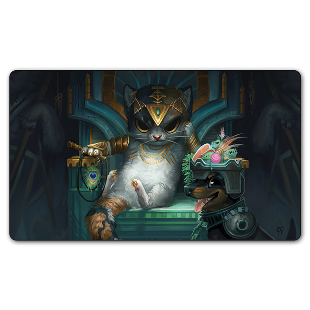 35X60CM Magical Board Game Table Playmat MTG Mat Cards Game Play Mats (Tasipurr The Golden Paw) Limited Edition