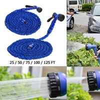 25ft/50ft/75ft/100ft Multifunction Metal Water Gun High Pressure Car Washer with Expandable Hose Auto Maintenance Car Cleaner