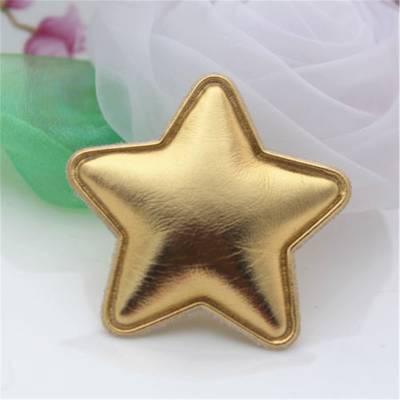 Free Shipping 50PCS Christmas Tree Decoration Gold Stars Girls Hair Jewelry Clips Decoration DIY Handmade Craft Material