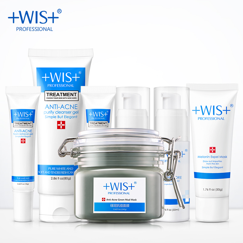 acne w15112004298 WIS anti-acne,oil control,acne and blackhead remover and facial cleaner skin care set,  pore cleanser,shrink pores,free shipping