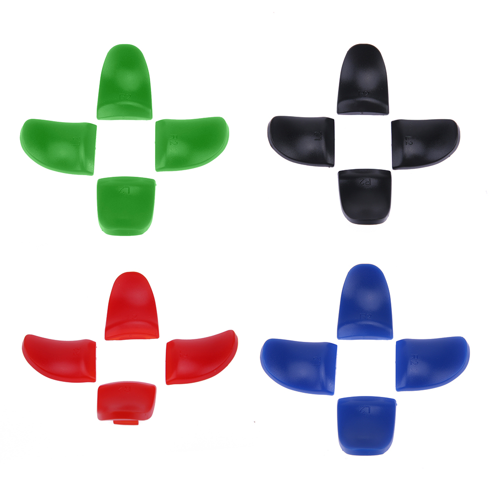 4pcs L2 R2 Game Controller Trigger Extenders Button Handle Key Set Extension Trigger Black Blue Green Red for PS4 Controller