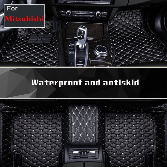 Car Carpets Rugs Liners Floor Mats Artificial Leather For Mitsubishi Asx Pajerosport V73 V93/v97 Outlander Asx Grandis