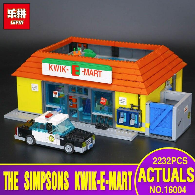 Free Shipping LEPIN 16004 The Simpsons Kwik-E-Mart Building Blocks Set Bricks Kits Christmas Gift Clone 71016 for children gift mart laar the power of freedom