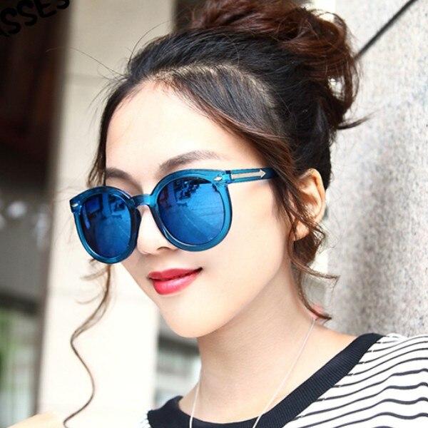 6ed2a9e9b13 2016 new fashion small round sunglasses female Retro large frame reflective  sun glasses for women-in Sunglasses from Apparel Accessories on  Aliexpress.com ...