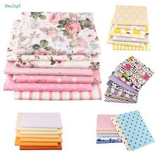 DwaIngY 2019 New 35 OR 7pc 40x50cm/pcs Printed Twill Cotton Fabric For Patchwork,DIY&Sewing Quilting Quarters Material Baby Doll(China)