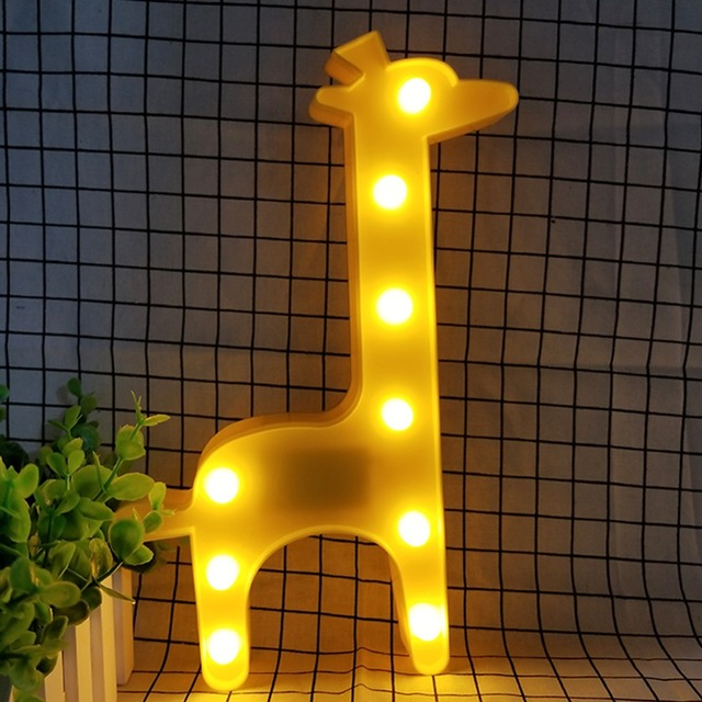 Giraffe Shaped Night Light