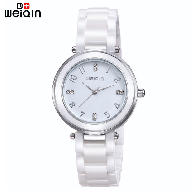 WEIQIN Fashion High Quality Ladies Watches Travel Leisure 100% Ceramic Band Women Watch Fake Diamond Luxury Relogio Feminino weiqin new 100