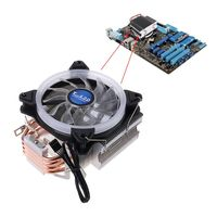 Durable water cooled pipe 4 Heat Pipes Dual Tower Cooling Fan CPU Cooler Computer Processor RGB Radiator for Intel and AMD