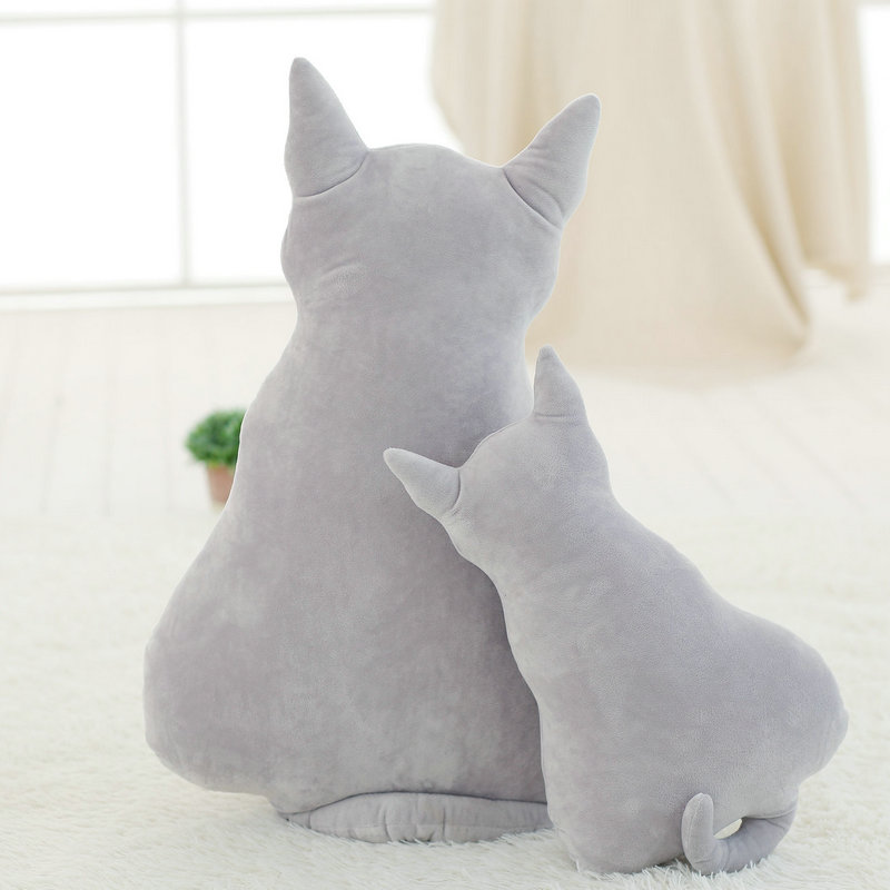 Dos desenhos animados Travesseiro Grande Brinquedos para Presente 45 70 cm  Moda Voltar Sombra Gato Bonito Macio Assento almofada do Sofá Almofada ... d938cd6dd24