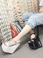 Pendiente del mollete con 17 cm 2016 de primavera y verano zapatos de cabeza de pescado con sandalias